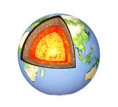 Structure of the Earth — Foto Stock