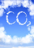 Symbol CO2 from clouds — Photo