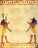 Anubis and Horus — Stock Photo