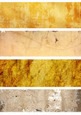 Collection of banners with texture of stucco — Stock Photo