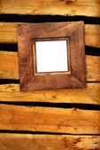 Moldura antiga de madeira parede — Fotografia Stock