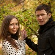 Young beautiful couple at fall — Stock Photo #9314776
