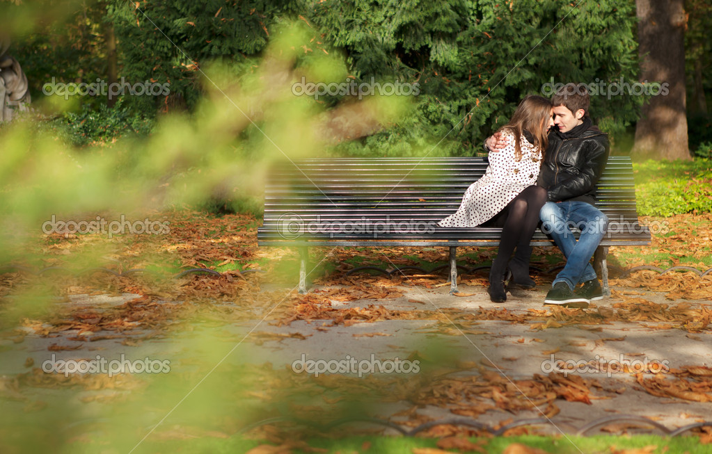 no jardim de Luxemburgo, no outono Paris, França — Imagem de Stock