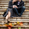 Dating couple at fall — Stock Photo #9323209