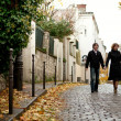 Couple in Paris at Montmartre - Foto de Stock  