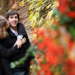 Dating couple at fall — Stock Photo #9323754