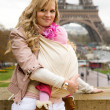 Traveling with baby — Stock Photo