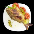 Stock Photo: Fish on plate.