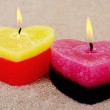 Two candles. — Stock Photo
