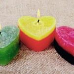 Three candles. — Stock Photo