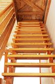 Escada de madeira. — Foto Stock