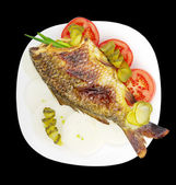 Fish on a plate. — Stock Photo