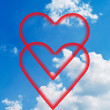 Clouds and hearts. — Stock Photo #10260453