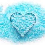 Blue bath salt. — Stock Photo