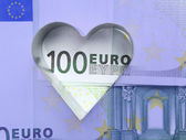 Metal form and euro. — Stock Photo