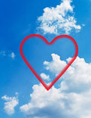 Clouds and hearts. — Stock Photo