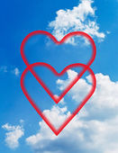 Clouds and hearts. — Stockfoto