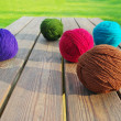 Stock Photo: Multicolored wool balls.
