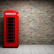 Classic red telephone booth — Stock Photo