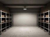 Empty garage — Foto Stock
