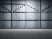 Large warehouse door illuminate — Stock Photo