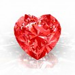 Diamond heart — Stock Photo