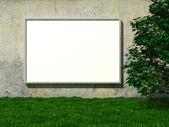 Outdoor em branco na parede de concreto — Foto Stock