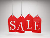 Red sale tags — Stock Photo