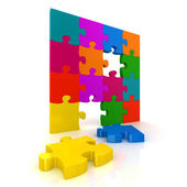 Colorful jigsaw puzzle — Stockfoto