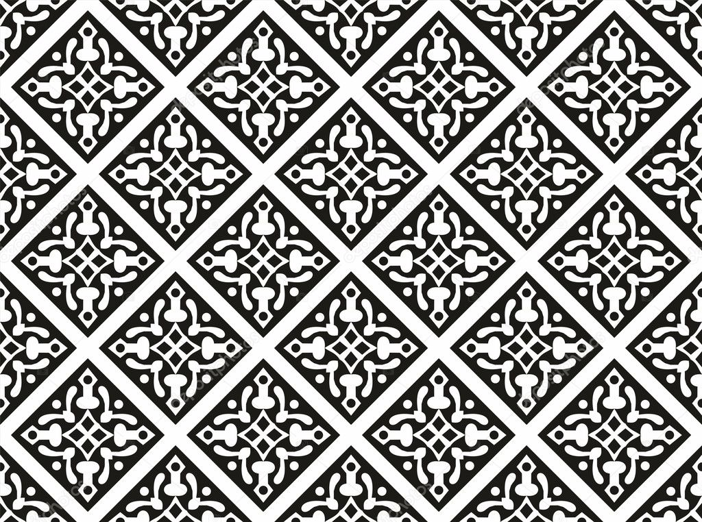 Seamless geometrical gothic floral vector pattern - Stock IllustrationGothic Floral Pattern