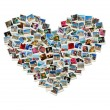 Travel passion - heart shaped collage made of world photos — Stock Photo #8054390