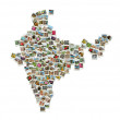 Map of India - collage made of travel photos — Stock Photo