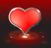 Valentine's day background with abstract heart — Stock Photo