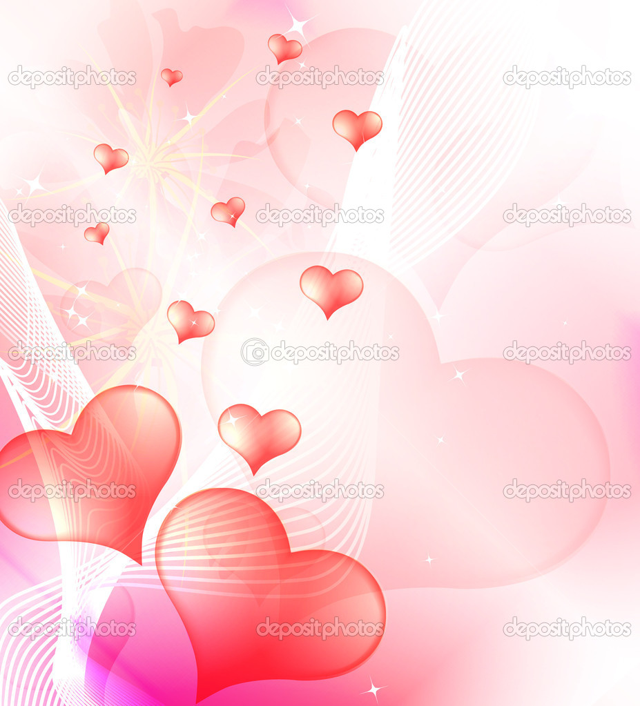 Valentine's Day background, vector — Stock Photo #8961040