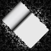 Papiers décoratifs floraux avec trou — Vecteur