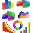 Royalty-Free Stock Vectorielle: Charts and Graphs Collection