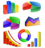 Charts and Graphs Collection — Stock Vector