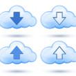 Royalty-Free Stock Imagen vectorial: Glossy cloud with arrow