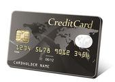 Tarjeta de crédito oro — Vector de stock