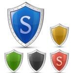 Shield symbols — Stock Vector #9210544