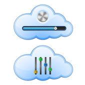 Cloud Hosting Control — Stock Vector