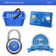 Online-Shop-Icon-set — Stockvektor