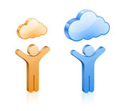Custom cloud hosting illustration — Stock Vector