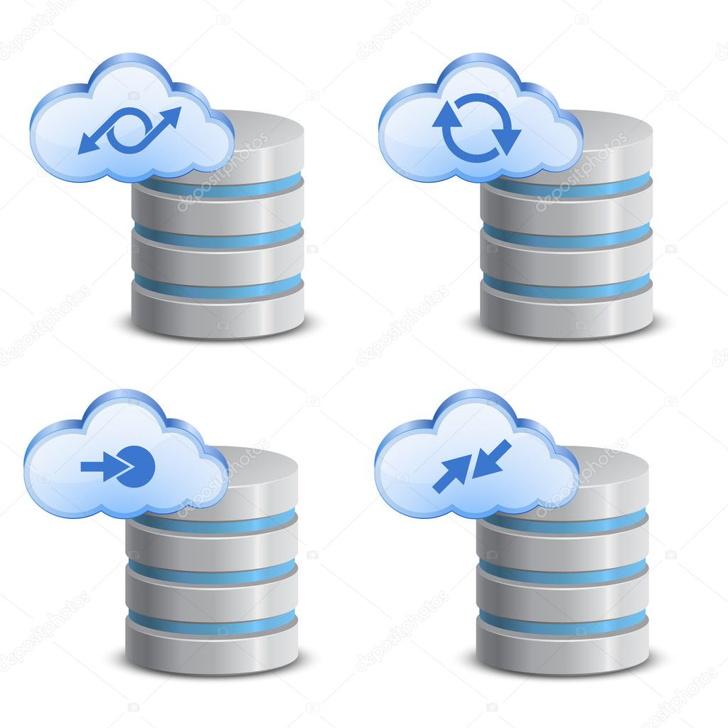 Cloud network backup. On-line backup service — Stock Vector #9960889