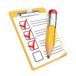 Checklist and Clipboard with white background — Stok fotoğraf