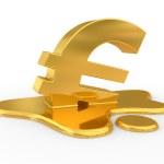 smeltende eurosymbool — Stockfoto