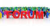 Forum Group Discussion — Stock Photo