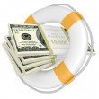 Stock Photo: Life buoy with dolla.