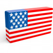 Stock Photo: Flag of the USA (United States of America).