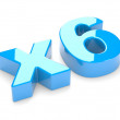 Multiplication or increase concept x6 — Stock Photo
